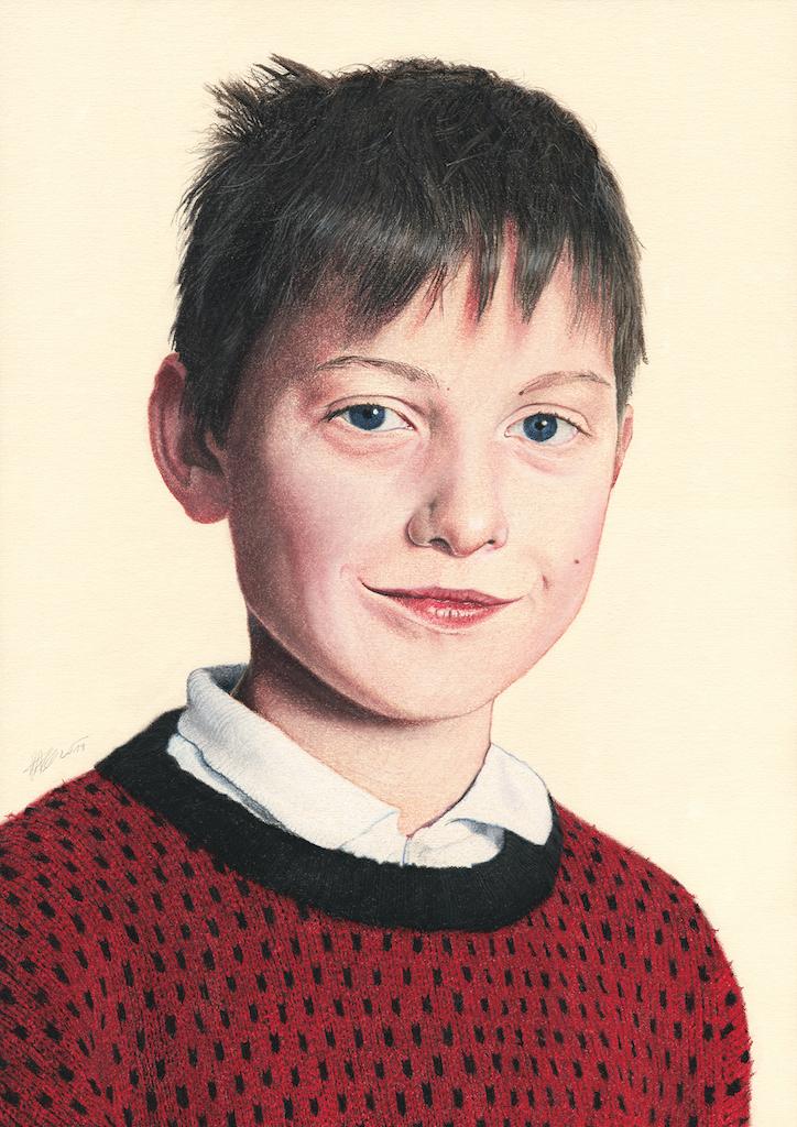 Anže Kralj, 2019, pastel na papirju, 42 x 29,7 cm